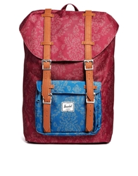 Herschel Supply Co Herschel Little America Backpack In Floral Tapestry Print Red
