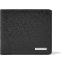 Hugo Boss Grained Leather Billfold Wallet Black