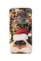 Forever 21 Holiday Cat Case For Iphone 6 Red Multi