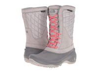 The North Face Thermoball Utility Mid Dove Grey Calypso Coral Women's Pull On Boots Gray