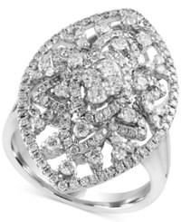 Effy Final Call Diamond Oval Ring 1 1 4 Ct. T.W. In 14K White Gold