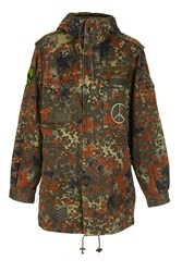 Topshop Finds Camouflage Longline Parka By Green