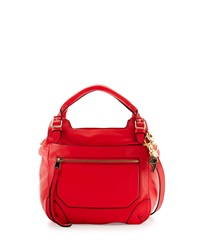 Cynthia Rowley Juno Large Leather Satchel Bag Coral