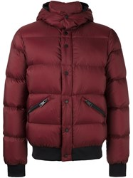 Armani Jeans Hooded Down Jacket Red