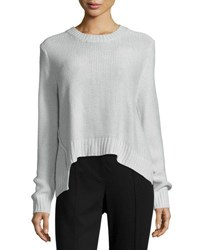 Cheap Monday Long Sleeve Crop Sweater Mist Grey