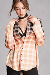 Forever 21 Honey Punch Ombre Plaid Shirt