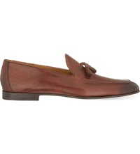 Magnanni Leather Tassel Loafers Tan
