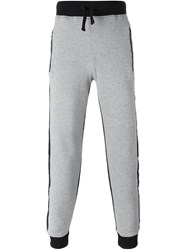 Hydrogen Panelled Track Pants Grey