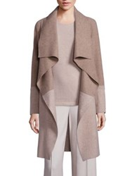 Lafayette 148 New York Jovani Colorblock Coat Dune Melange