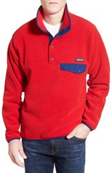 Men's Patagonia 'Synchilla Snap T' Fleece Pullover Totally Red