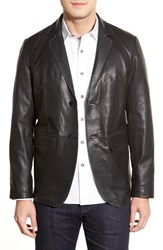 Men's Missani Le Collezioni Lambskin Leather Sport Coat