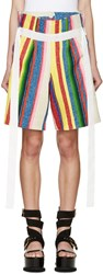Sacai Multicolor Striped Shorts