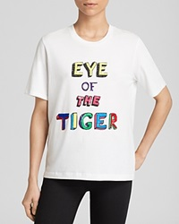 Markus Lupfer Tee Alex Eye Of The Tiger Sequin White