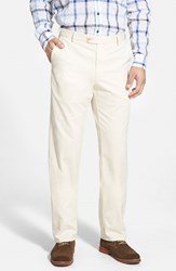 Men's Big And Tall Peter Millar 'Raleigh' Washed Twill Pants Stone