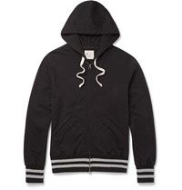 Todd Snyder Champion Slim Fit Loopback Cotton Jersey Zip Up Hoodie Black