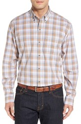 Cutter And Buck Men's 'Starboard' Regular Fit Plaid Cotton Poplin Sport Shirt