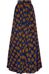 Finds Talbot Runhof Printed Stretch Corduroy Maxi Skirt