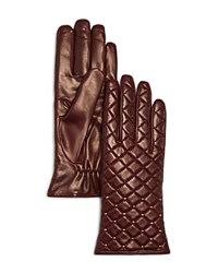 Bloomingdale's Quilted Gloves Bordeaux