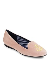 Jack Rogers Reese Suede Flats Pink