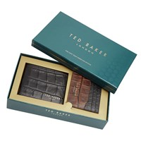 Ted Baker Holiday Crocodile Leather Wallet And Card Holder Gift Set Black