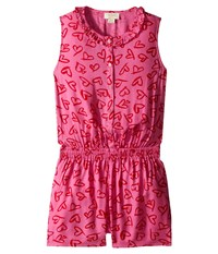 Kate Spade Heart Romper Big Kids Lipstick Hearts Print Women's Jumpsuit And Rompers One Piece Pink