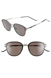 Christian Dior Men's Homme 55Mm Wire Sunglasses Metallic Silver Black Metallic Silver Black