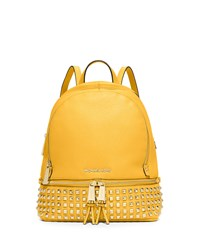 Michael Michael Kors Rhea Small Studded Leather Backpack Sunflower