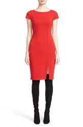 St. John Women's Collection Cap Sleeve Milano Knit Sheath Dress
