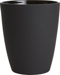 Cb2 Rubber Coated Black Wastecan