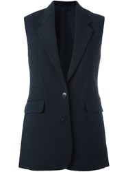Helmut Lang Tailored Vest Blue