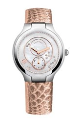 Philip Stein Teslar Women's Small Mother Of Pearl Dial Watch Pink