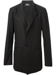 Lost And Found Single Button Blazer Black