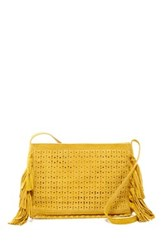 Shiraleah Emma Zip Suede Crossbody Bag Yellow