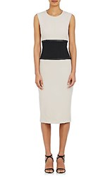 Narciso Rodriguez Women's Fluid Gabardine Sheath Dress Beige Black No Color