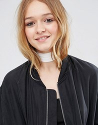 Asos Choker Neck Tie And Headscarf White
