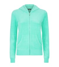 Juicy Couture Gem Logo Velour Hoodie Female Mint