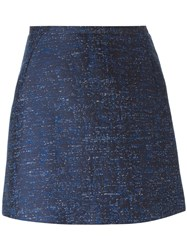 Gianluca Capannolo Jacquard Short Skirt Blue