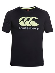 Canterbury Of New Zealand Vapodri Essential Poly Logo T Shirt Black