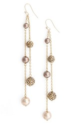 St. John Women's Collection Swarovski Crystal And Glass Pearl Pave Drop Earrings