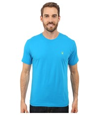 Spyder Route Graphic Short Sleeve Shirt Electric Blue Theory Green Men's Long Sleeve Pullover
