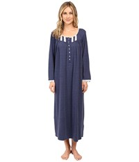 Eileen West Ballet Nightgown Long Sleeve Mid Blue Women's Pajama