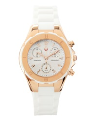 Michele Tahitian Jelly Bean Watch White Rose Gold