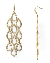 Abs By Allen Schwartz Pave Beach Chandelier Earrings Gold