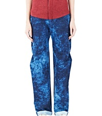 The Autonomous Collections Tie Dye Denim Pants Blue