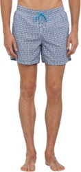 Roda Fish Print Swim Trunks Blue