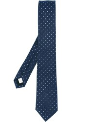 Burberry London Dotted Tie Blue