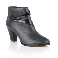 Lotus Thore Leather Ankle Boots Navy