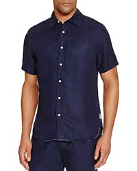 Surfside Supply Cabana Relaxed Fit Button Down Shirt Navy