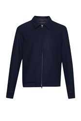 French Connection Men's Winter Marine Melton Jacket Blue