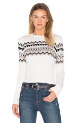 Autumn Cashmere Fairisle Sweater Ivory